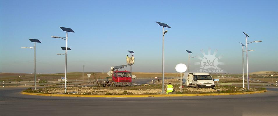 Farolas Solares Alumbrado Publico Gyc Solar